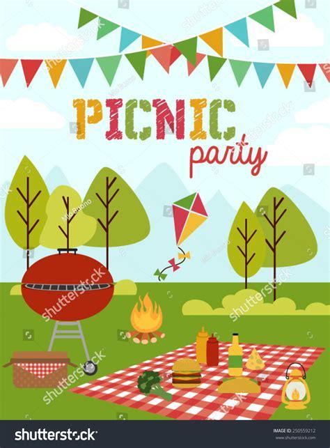 Backyard Birthday Party Invitations Picnic Party Stock Vector 250559212 Shutterstock