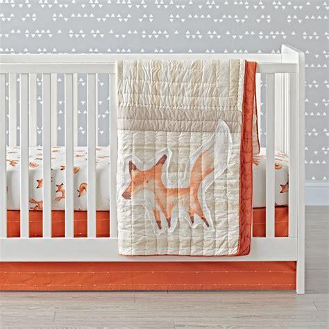 fox crib bedding crib bedding the land of nod