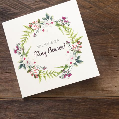 Ring Bearer Card Template by Will You Be Our Ring Bearer Card