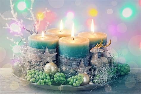 dekoracja boze narodzenie zielone swieczki swiateczne