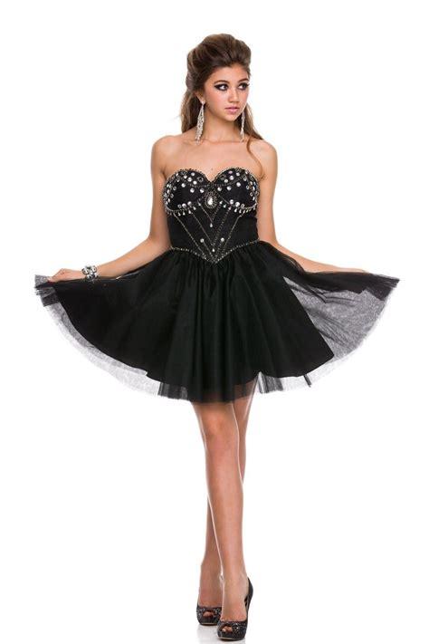 sweetheart prom dresses 2015 beaded strapless sweetheart short a line black prom