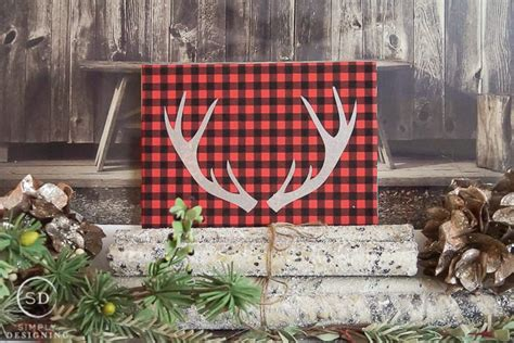 home decor buffalo buffalo check antler decor