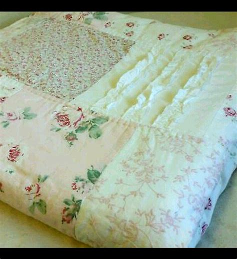 simply shabby chic simply shabby chic quilt patchwork vintage pink f q ditsy ruffle ebay