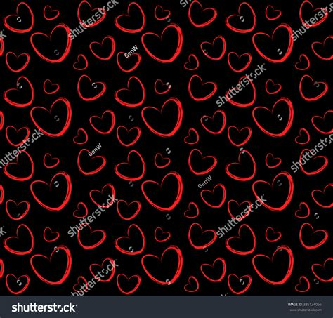 perfect pattern password elegant deep red hearts vector seamless stock vector
