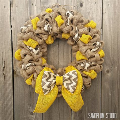 how to make a wreath with burlap fall wreaths how to make multi colored burlap wreath