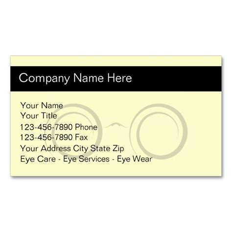 optometry business cards templates free 17 best images about eye doctor business cards on
