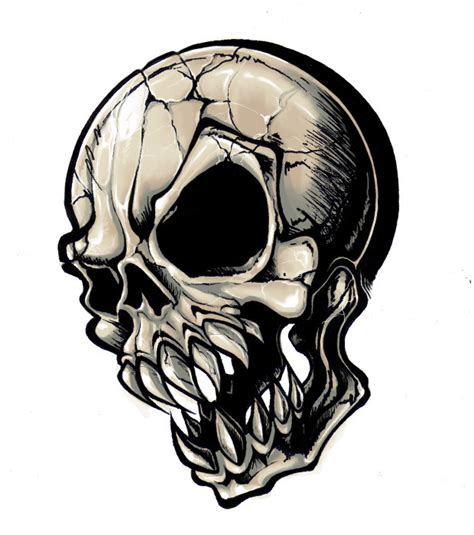 generic tattoo skull 25 by deadmansreel on deviantart