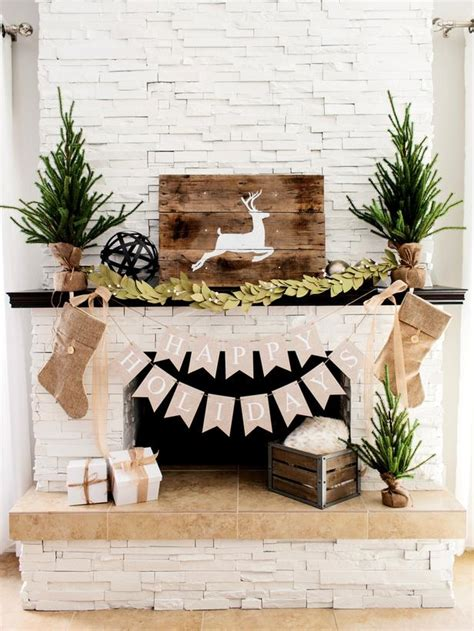 one fireplace mantel decorated 3 ways rustic traditional