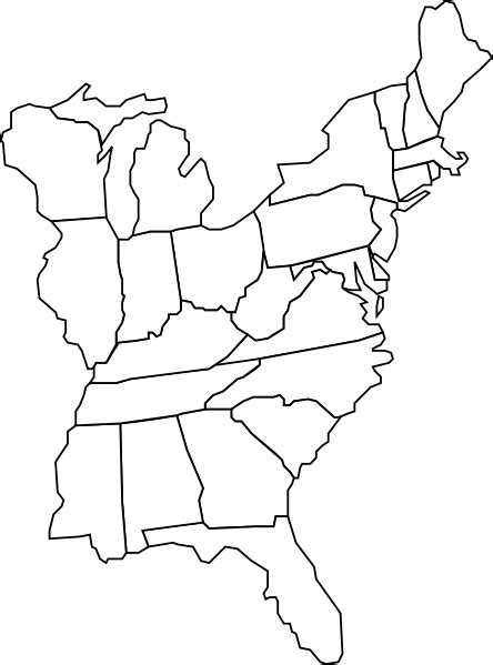 us map outline vector eastern u s map clip at clker vector clip