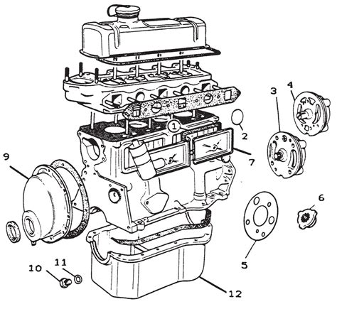 auto parts ltd morris minor engine parts diagram