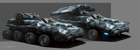 concept armored vehicle the armored personnel carrier of the alliance military