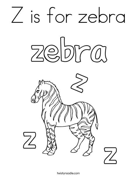 Z Zebra Coloring Page by Z Is For Zebra Coloring Page Twisty Noodle