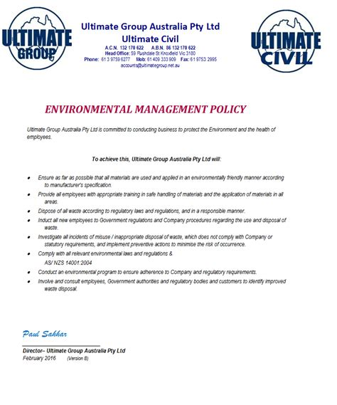 environmental statement template risk management matrix template risk management matrix