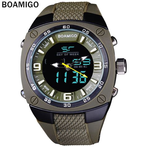 Jam Tangan Digitec Digital Running Outdoor Original sports watches army green outdoor dual display quartz digital swim waterproof