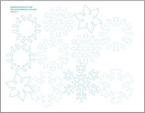 8 best images of snowflake frozen paper printables
