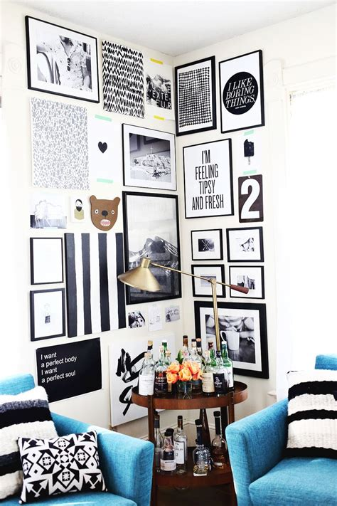 hanging pictures ideas how to style a corner gallery wall a beautiful mess