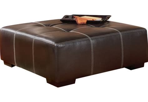 brown leather cocktail ottoman suttons bay brown cocktail ottoman cocktail ottomans brown