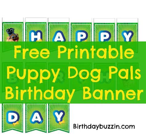 puppy pals birthday supplies free printable puppy pals birthday banner birthday buzzin