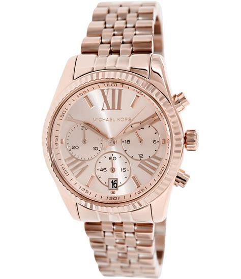 designers watch michael kors lexington chronograph rose gold designer