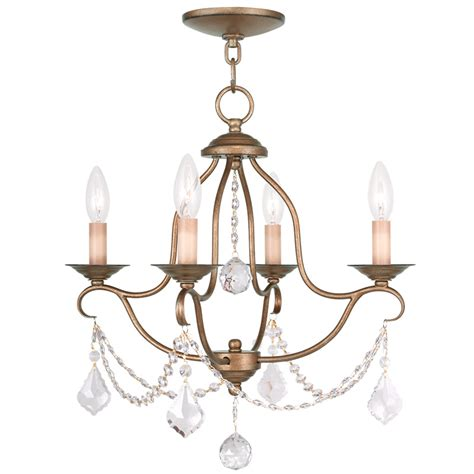 Antique Gold Chandeliers Livex Lighting Chesterfield Mini Chandelier Antique Gold Leaf 6424 48