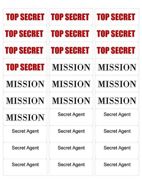 secret activity labels for the entertaining ideas