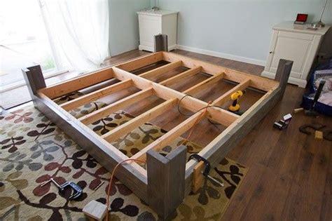 simple platform beds foter beds joints   diy