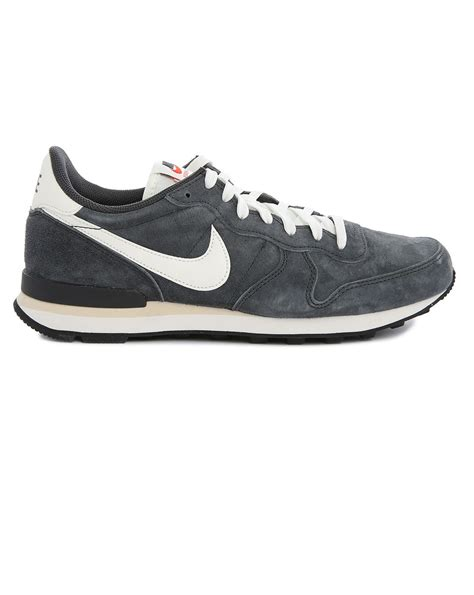 nike internationalist sneaker nike grey suede internationalist sneakers in gray for