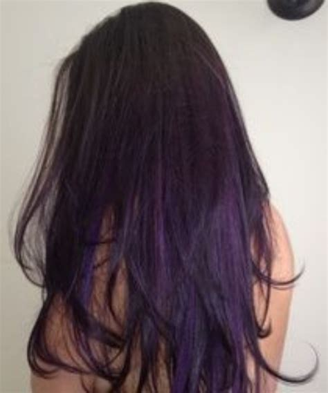 dark brown hair with purple highlights underneath 2015 brown hair with purple highlights underneath www imgkid