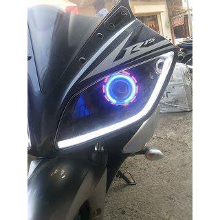 Lu Projector Motor R15 amson custom fit yamaha r15 headlight 2 hid ring
