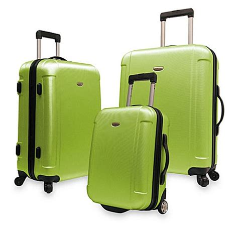 bed bath and beyond luggage buy traveler s freedom 3 piece hardside spinner luggage