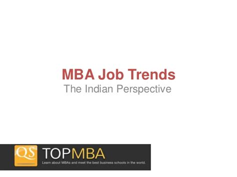The Mba Internshio by Mba Trends The Indian Perspective