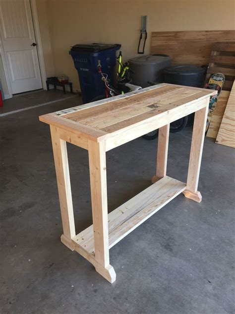 pallet wood entry table wood table diy wood entry