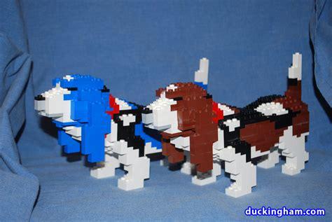 lego dogs lego sculptures basset hounds duckingham design
