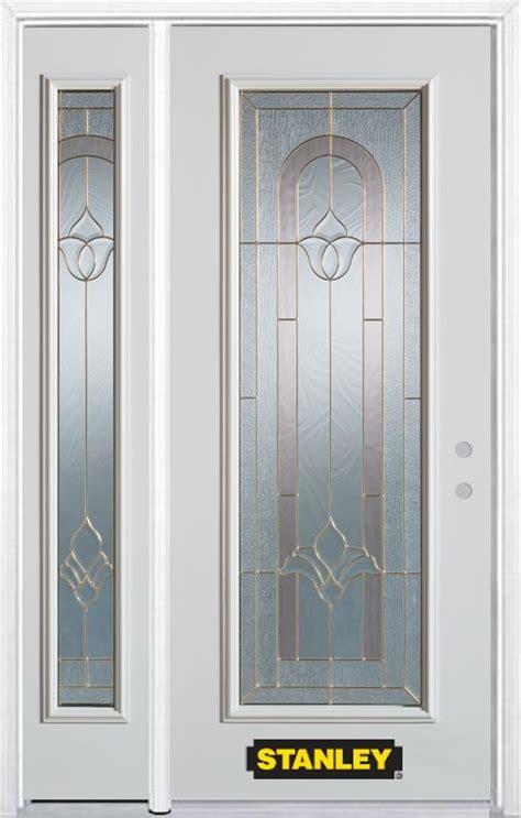 48 Inch Exterior Door Stanley Doors 48 Inch X 82 Inch Marilyn Lite White Steel Entry Door With Sidelite And