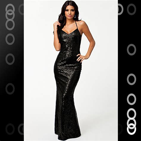 Longdres Lowo Melati black low cut all sequin cocktail evening dress open back lc6306 ebay