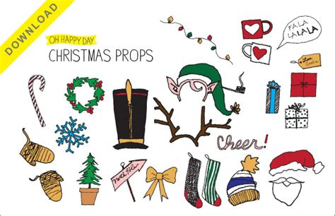 printable xmas props holiday photobooth props free printable