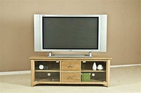 Tv Unit Glass Doors Buy Tuscany Oak Tv Unit Large With Glass Door Cfs Uk