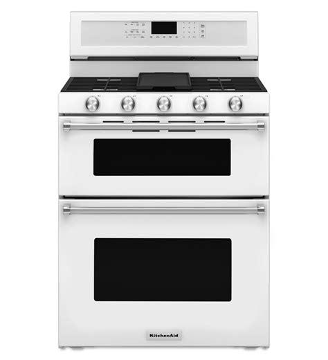 Oven Gas Convection kfgd500ewh kitchenaid white gas range