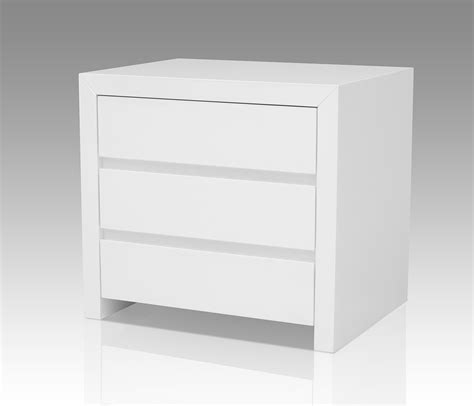 high nightstand bonita modern white high gloss 2 drawer nightstand