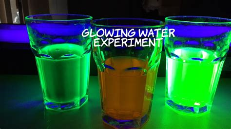 uv experiment glowing water experiment make water glow in the