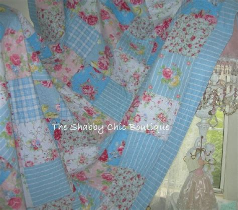 Shabby Chic Patchwork Quilts - king patchwork quilt set cottage pink roses country