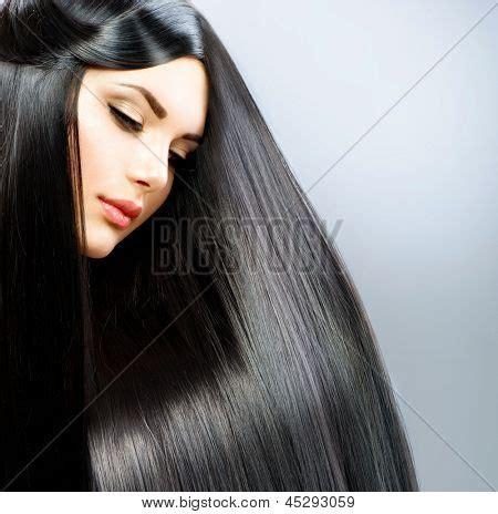mujer con el pelo negro largo sano lujuriante foto de imagen y foto cabello pelo largo lacio hermosa bigstock