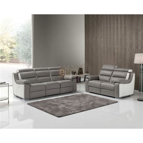 canapes contemporains canap 233 contemporain relaxation cuir bicolore t 234 ti 232 re r 233 glable