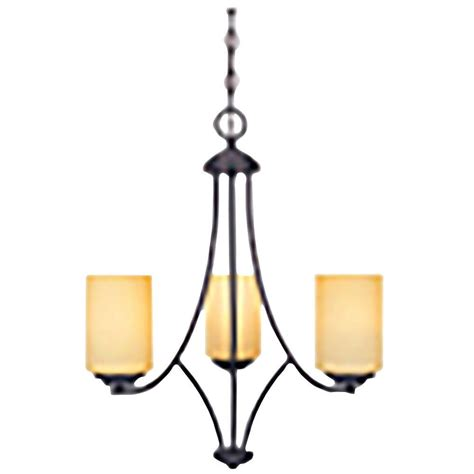 Home Depot Chandelier Shades Designers Marbella 3 Light Rubbed Bronze Chandelier With Satin Bisque Glass Shades