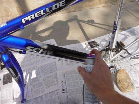 spray painting bike frame anti theft bike painting