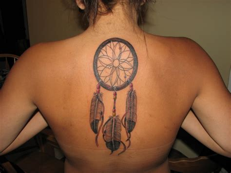 dream catcher tattoo on back dreamcatcher tattoos designs ideas and meaning tattoos