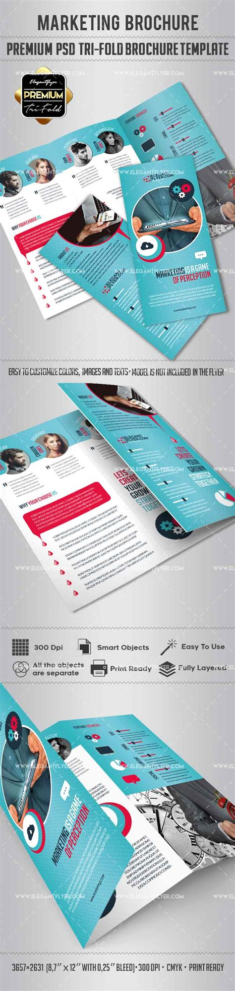 Tri Fold Brochure For Marketing By Elegantflyer Marketing Brochure Template