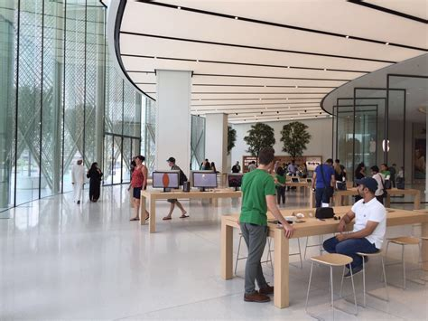 apple dubai take a look inside the new two storey apple store at the