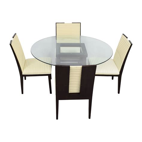 83 Off Z Gallerie Z Gallerie Black And Glass Dining Set Z Gallerie Dining Table And Chairs
