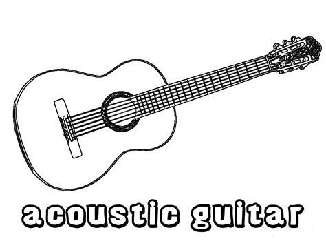 coloring page guitar nice guitar coloring pages collection coloringpagehub